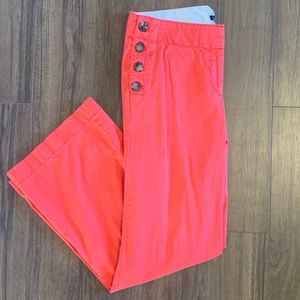 Bright Trousers with Button Pockets